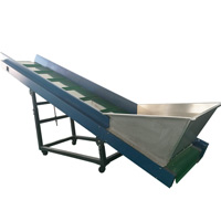 Belt Conveyor for Raw Material Feeding in Plastic Recycling and Pelletizing Line