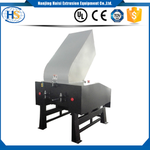 Crusher machine with blower for soft rubber film