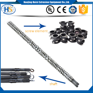 Screw shaft in Parallel co-rotating twin screw extruder